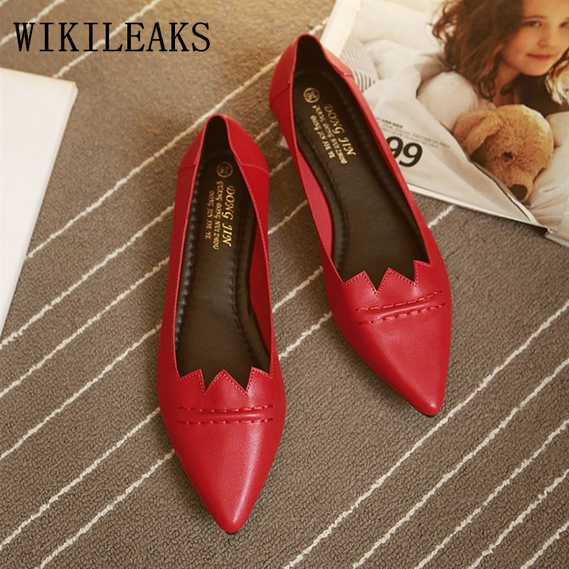 Autumn Korean fashion loafers women pointed toe flats slip on shoes for women white shoes sapatos femininos leather shoes woman baiclothing women casual pointed toe flat shoes lady cool spring pu leather flats female white office shoes sapatos femininos