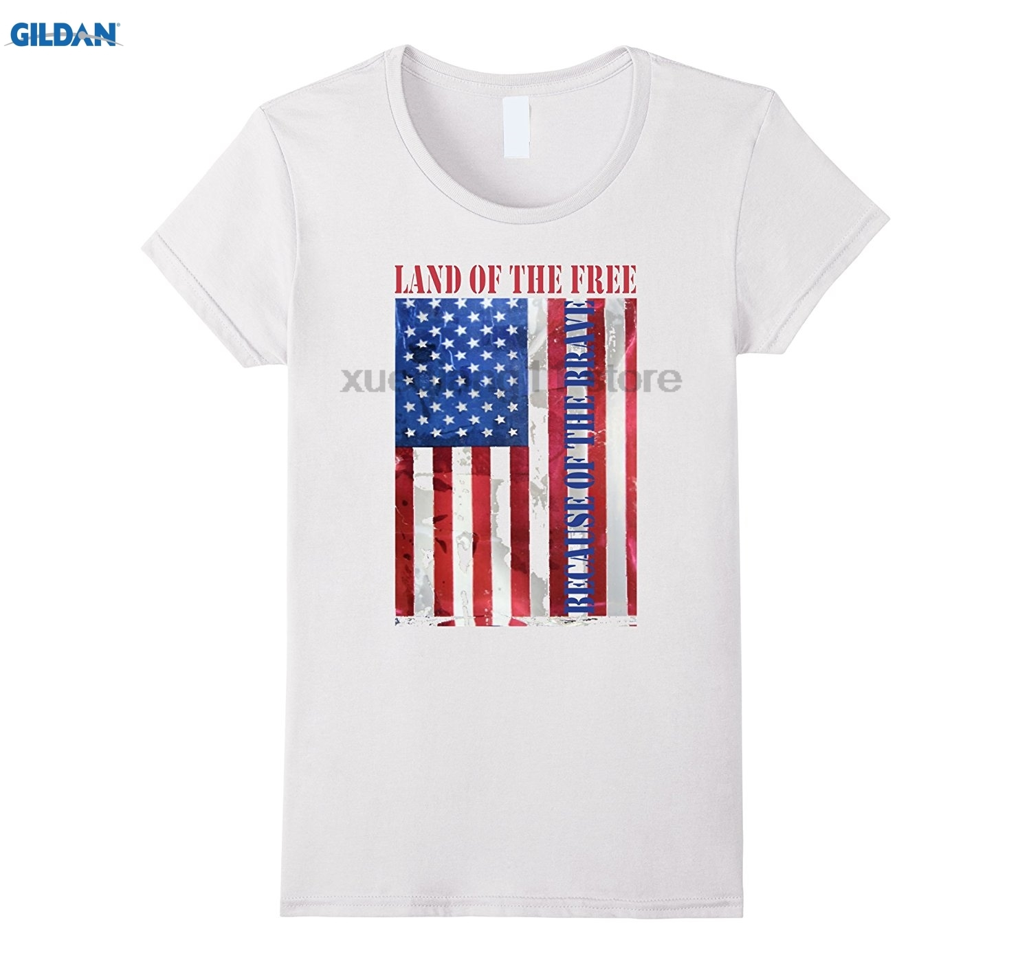 GILDAN Memorial Day land of the free because of the brave shirt