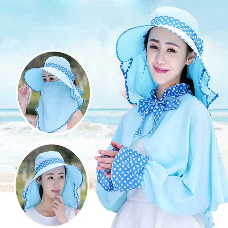 Hat Mask Shawl One Summer Uv Masks Female Spring Cover Face Shade Outdoor Sunscreen Thin Breathable Neck Full Seaside Women цена 2017