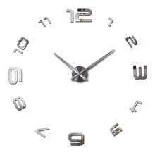 2015 new real quartz selling metal modern watch large 3d diy wall clock home decor gift silent clocks watches free shipping