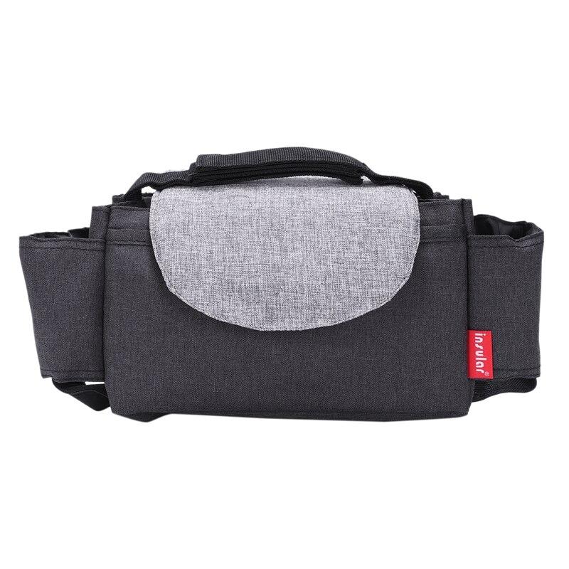 Insular Multifunctional Portable Stroller Storage Bag Diaper Bag Black