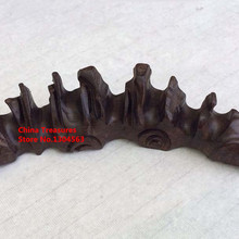 Chinese-Brush-Holder for Calligraphy-Brush Brush-Rack Carved Natural-Wood of 1piece