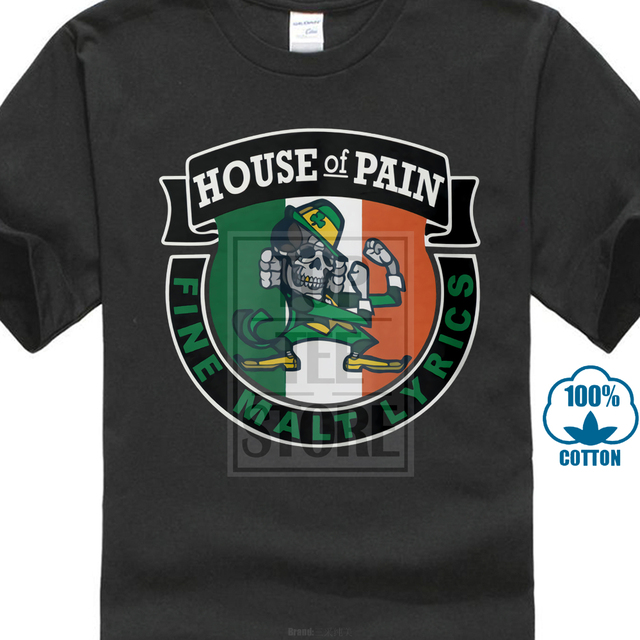 436ada8c 2017 Newest Men's Cool House Of Pain The Fighting Irish 3D Print Men's 100%  Cotton T Shirt Summer Popular Short Sleeve Tees