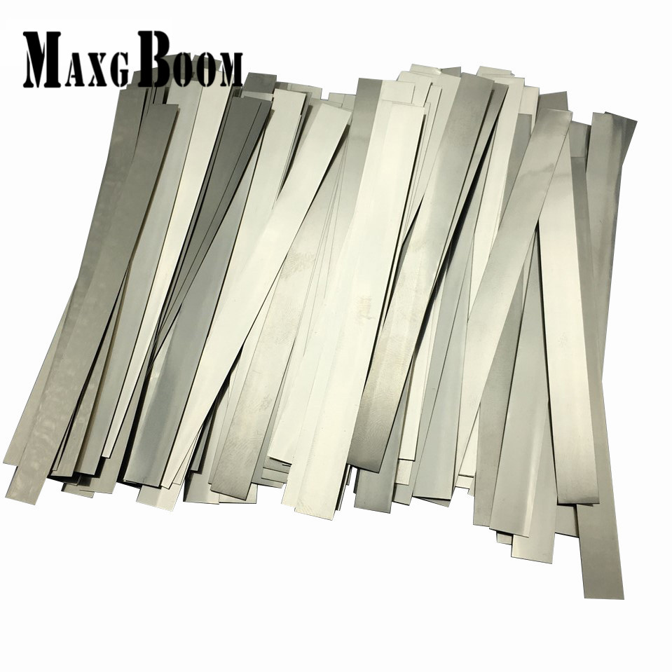 100pcs/lot 0.15mm x 6mm x 100mm Quality low resistance 99.96% pure nickel Strip Sheets for battery spot welding machine 100pcs lot 0 15mm x 12mm x 100mm quality low resistance 99 96