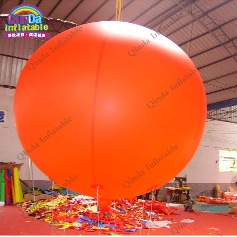 Customized logo 0.18mm PVC hulium gas balloon,3m diameter Inflatable party balloon outdoor lighting solar powered panel led floor lamps deck light 3 led underground light garden pathway spot lights