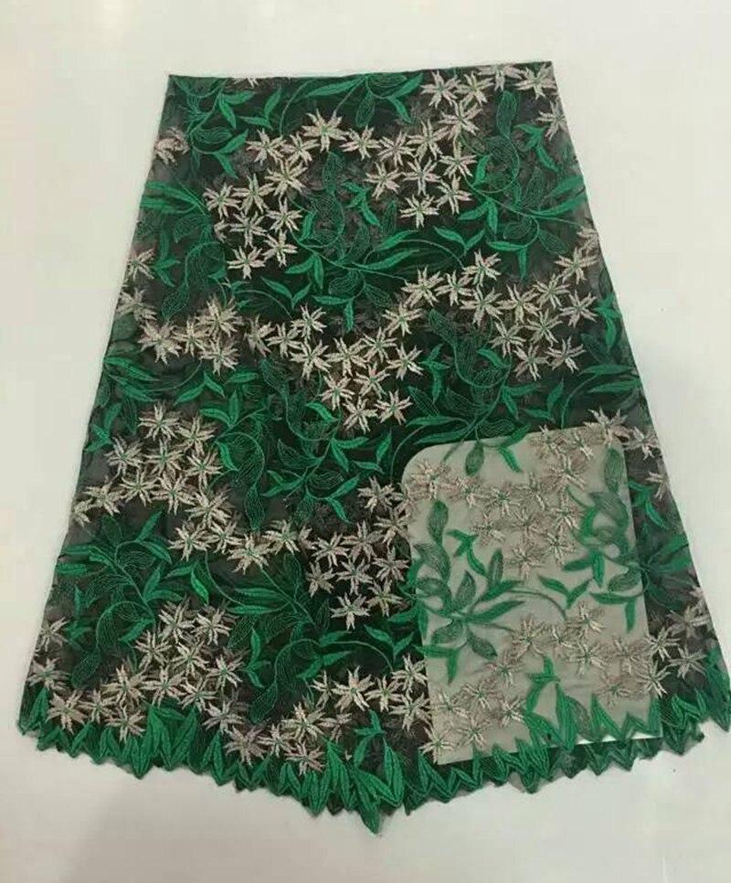 2e969a8cf0 Nigeriano bordado tecido de renda líquida francês africano lace tecidos  cores duplas para festa vestido de 5 metros lote C316062301 Nova chegada hot