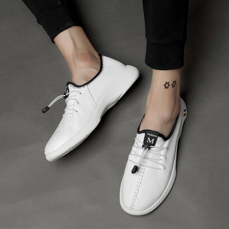 Pria sepatu kasual sepatu kulit asli bernapas musim panas sepatu pria - Sepatu Pria - Foto 5