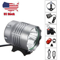 3 Mode 2000 Lm 4x T6 LED Head Front Bicycle Bike Lamp HeadLight with Battery + Rear light+Headband+Charger