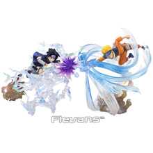 Naruto Shippuden Figuarts ZERO Uzumaki Naruto VS Uchiha Sasuke Realtion PVC Figure Collectible Model Toy with Retail Box
