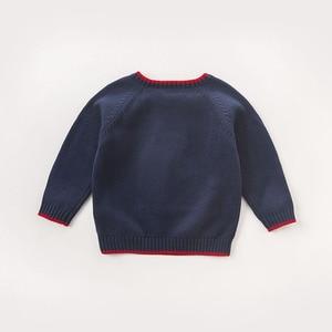 Image 2 - DB5905 דייב bella סתיו תינוקות תינוק בני חיל הים דוב בסוודרים סוודר ילדים יפה ילדי פעוט סרוג סוודר