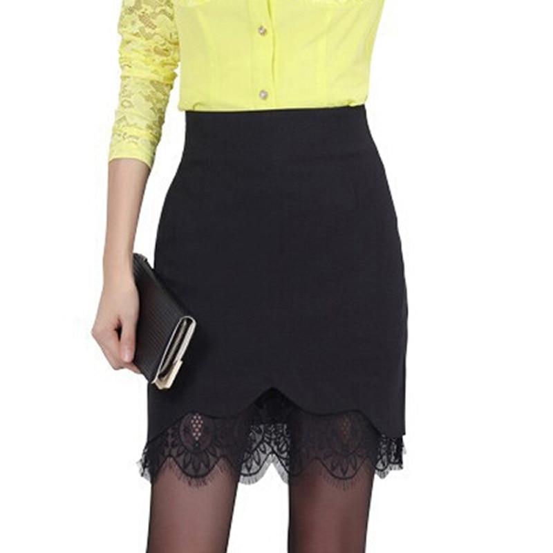 Women pencil skirt female lace skirt black high waisted skirts womens short  saia feminina saia renda plus size short saia WL003-in Skirts from Women s  ... f240ad99fcab