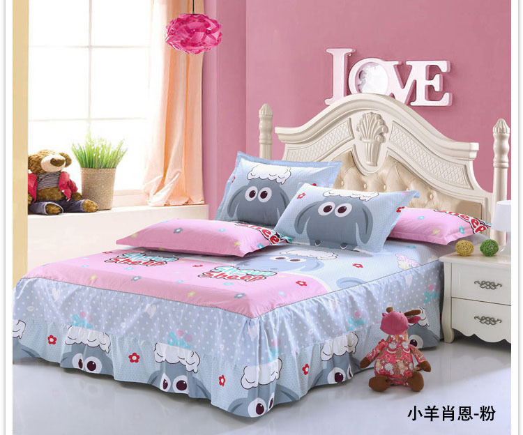 High Quality Cotton Anime Bed Sheets For Kids Skirt Printed Mattress Protective Case Cover Bedsheet Bedspread Twin Queen In From Home Garden