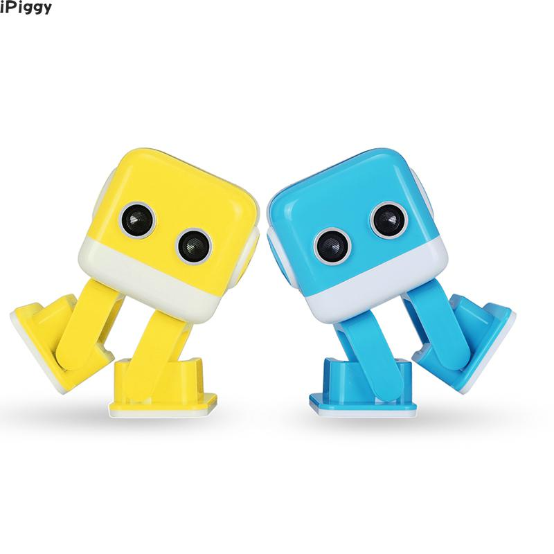 IPiggy Hot Yellow Blue WLtoys Cubee F9 Intelligent Programming APP Control Remote Control RC Dancing Robot Kids Toys Gift