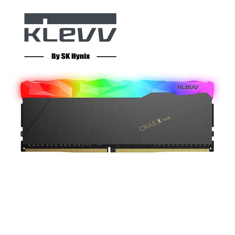 Klevv CRAS-X 8 GB 8G PC mémoire vive Memoria Module Ordinateur De Bureau DDR4 ECC PC4 3200 Mhz 3200 RAM 8GBX2 = 16 GB RGB RAM