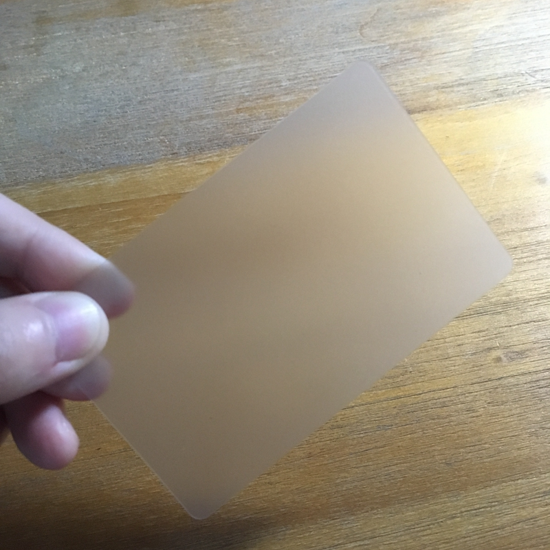 50pcs Transparent blank card PVC fine matte plastic material waterproof card 85.5*54mm use for business card printing
