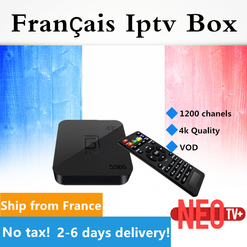 French IPTV GOTiT S905 Android TV Box NeoTV QHDTV Belgian Arabic Dutch Europe IPTV VOD H.265 4K Amlogic S905 Quad-Core gotit cs918 android 4 4 tv box with 1year arabic royal iptv europe africa latino american iptv rk3128 media player smart tv box