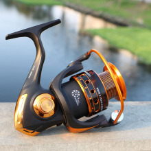 Spinning Fishing Reel with Bearing Balls and Metal Coil