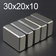 1/2/5Pcs 30x20x10 Neodymium Magnet 30mm x 20mm x10mm N35 NdFeB Round Super Powerful Strong Permanent Magnetic imanes