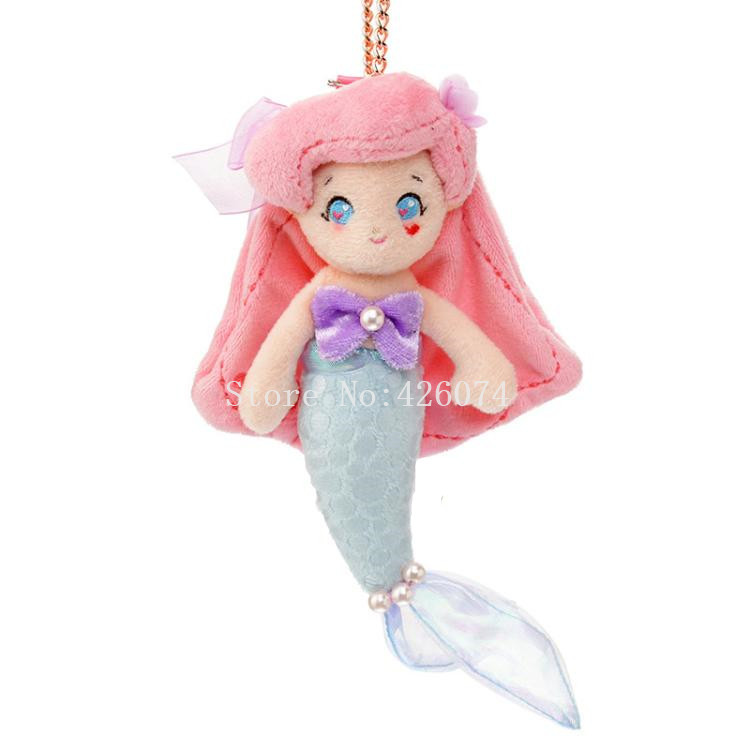 1 Pc Cute Cinderella Mermaid Snow White Princess Keychain Plush Toy Fashion Dolls Elastically Stretchable Plush Keychains Gift Plush Keychains Stuffed Animals & Plush