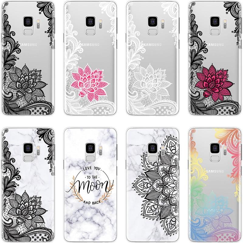 Soft-Cover Marble A50 Mandala Note 8 9-Case A20e A8 Star Samsung Galaxy A8s-Plus