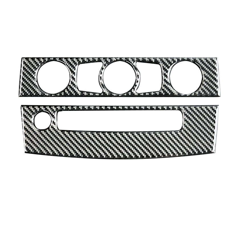 <font><b>Carbon</b></font> Fiber <font><b>Interior</b></font> Trim Air Conditioning Cd Control Panel Car Styling Stickers For <font><b>Bmw</b></font> <font><b>E60</b></font> 5 Series Accessories image