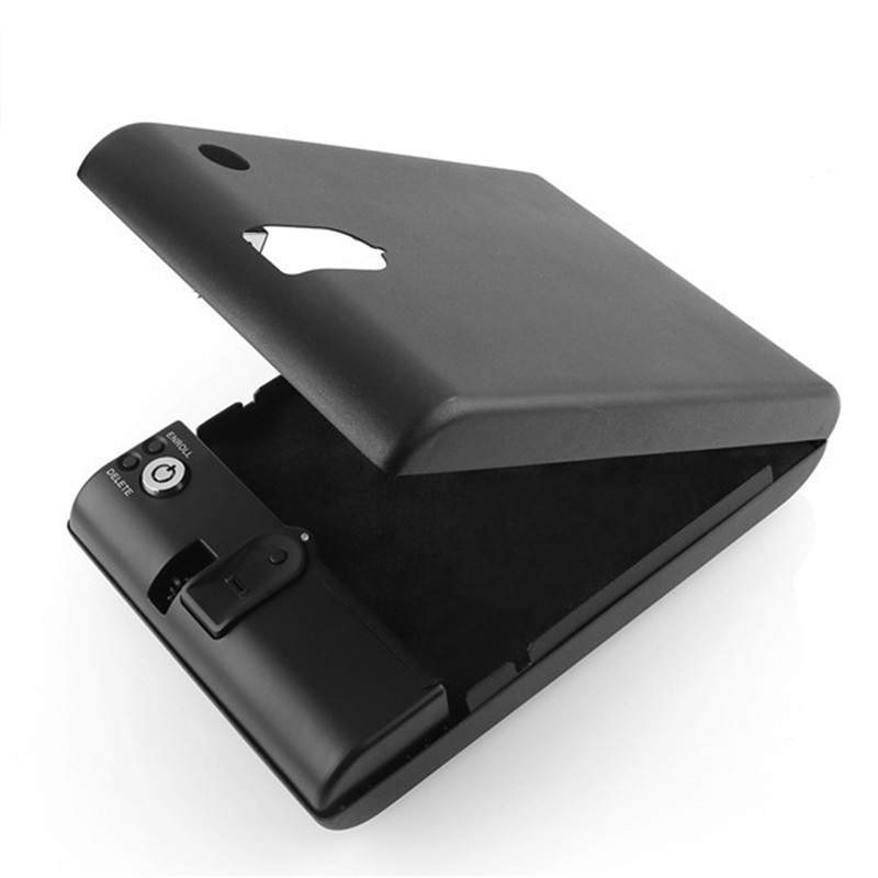 new portable fingerprint biometric lock case valuable jewelry safe box with security cablechina - Biometric Safe