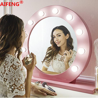 AIFENG 10W Makeup Mirror Vanity LED Light Bulbs Kit for Dressing Table with Dimmer Power Supply Plug in,NO Mirror,AC 100 240V