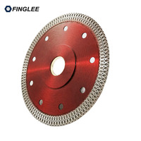 1Pcs 105 115 125mm Wave Flange Style Diamond Saw Blade For Porcelain Tile Ceramic Dry Cutting