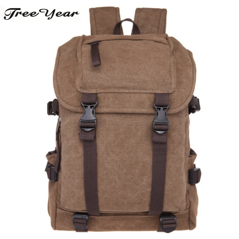 Backpack Vintage Canvas Backpack Schoolbag Male Travel Bags Large School Bags Leisure Mochila Rucksack