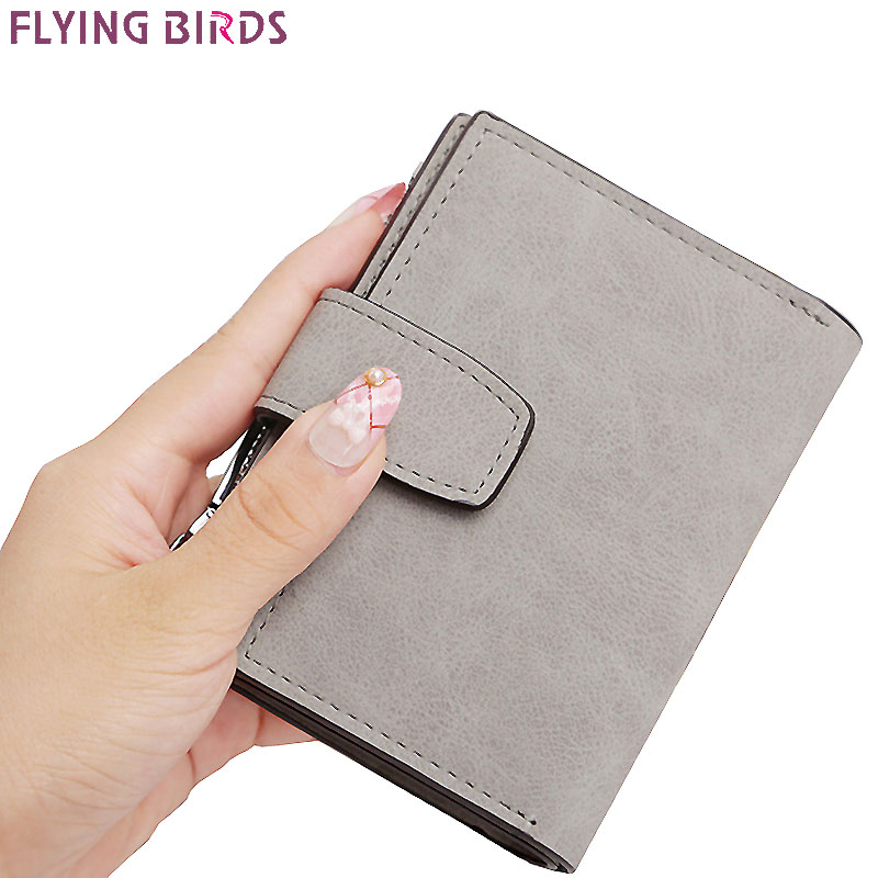 Flying birds short Wallets women dollar price Leather Wallet Clutch purse women bags high quality credit card bag LM4243fb