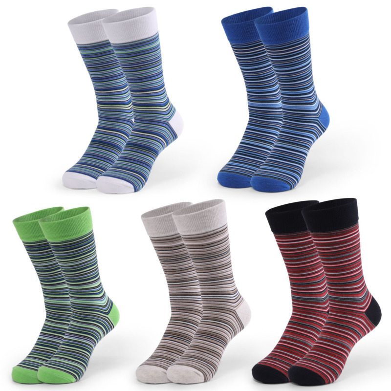 PEONFLY Casual Funny Socks Colorful Striped Socks Men Classic Comfort Hit Color Sokken For Bussiness Fashion Cotton Happy Socks