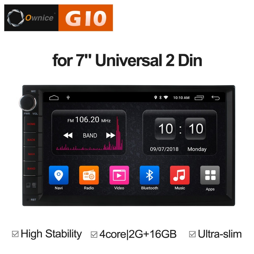 1024*600 Android 8.1 Octa 8 Core Quad Core Universal Car Radio 2din 2 din Player GPS Navi 2GB RAM 16/32GB ROM Autoradio 4G LTE ownice c500 octa 8 core android 6 0 2din 8 1024 600 car dvd for kia new ceed wifi radio gps 2gb ram 32gb rom support 4g dab
