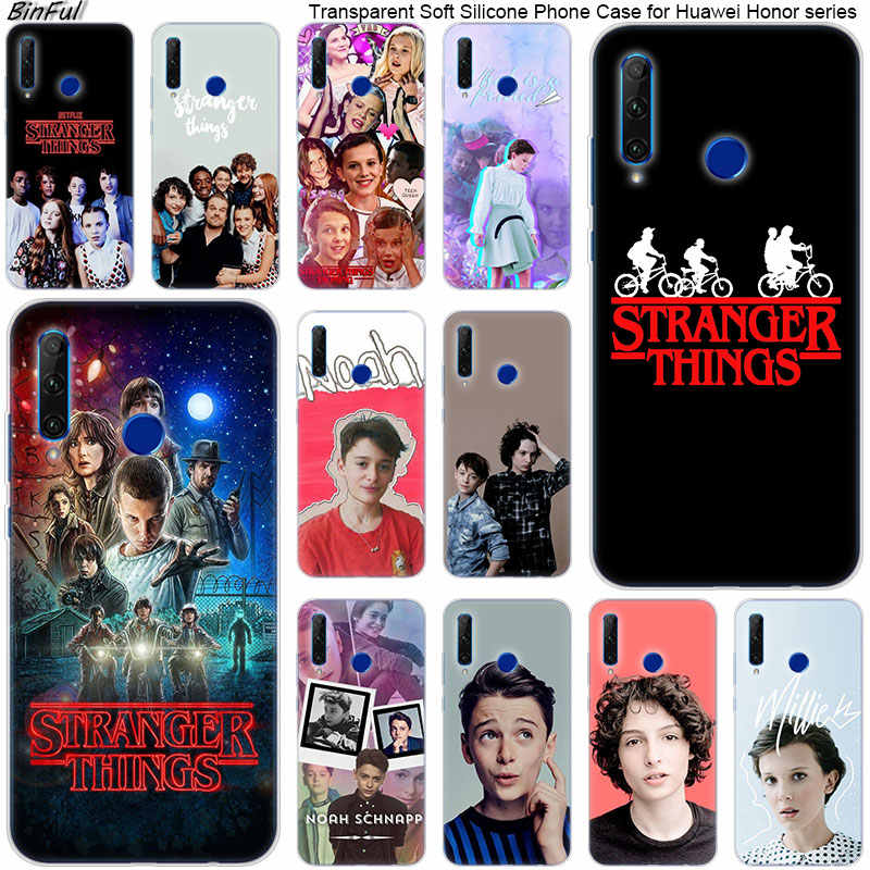 Hot Stranger Things Soft Silicone Phone Case for Huawei Honor 20 20i 10 9 8 Lite 8X 8C 8A 8S 7S 7A Pro View 20 Fashion Cover