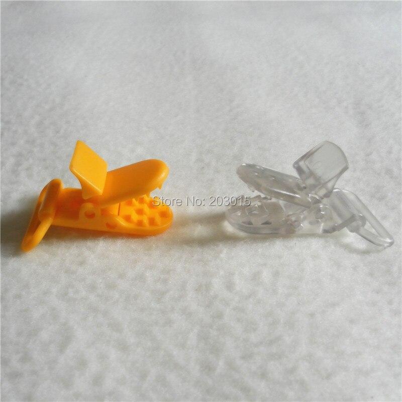 20 цветов смешанный) DHL 300 шт. Горячие формы D 2.5 см 1 ''Пластик маленьких Соски соска пустышка адаптер Chain Зажимы для 25 мм ленты