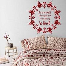 Mandala Wall Decal  Vinyl Personality slogan  Wall Sticker Yoga Studio Wall Art Mural Home Decoration Bohemian Boho Art MTL07