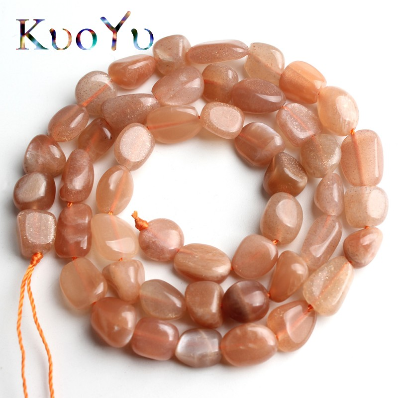 6-8mm Natural Irregular Sunstone Beads Loose Spacer Bead For Jewelry Making DIY Bracelet Necklace 15