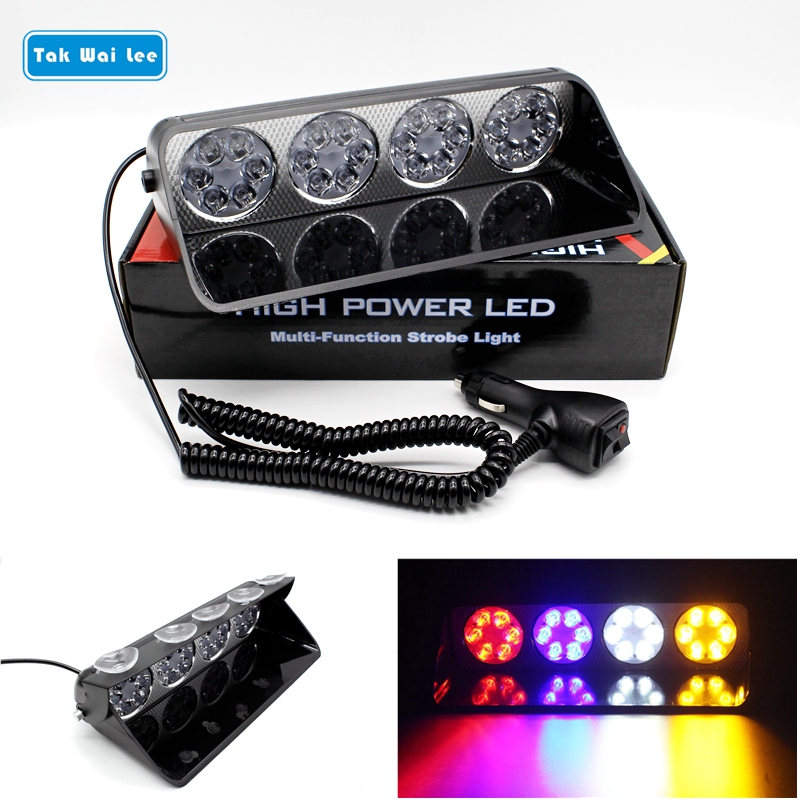Tak Wai Lee 1 шт. 16/24 светодиодная многофункциональная Стробоскопическая сигнальная лампа в автомобильном стиле 7 режимов вспышка пожарный полиц