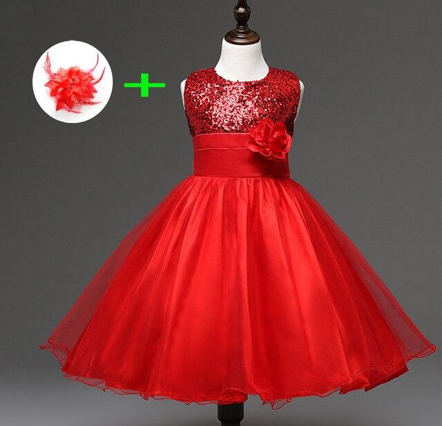 new styles 5bcd5 2033f US $20.0 |Bambini abito da sposa per 3 anni a 11 anni i bambini vestiti  della ragazza della principessa di lunghezza del ginocchio blu rosso  vestiti ...