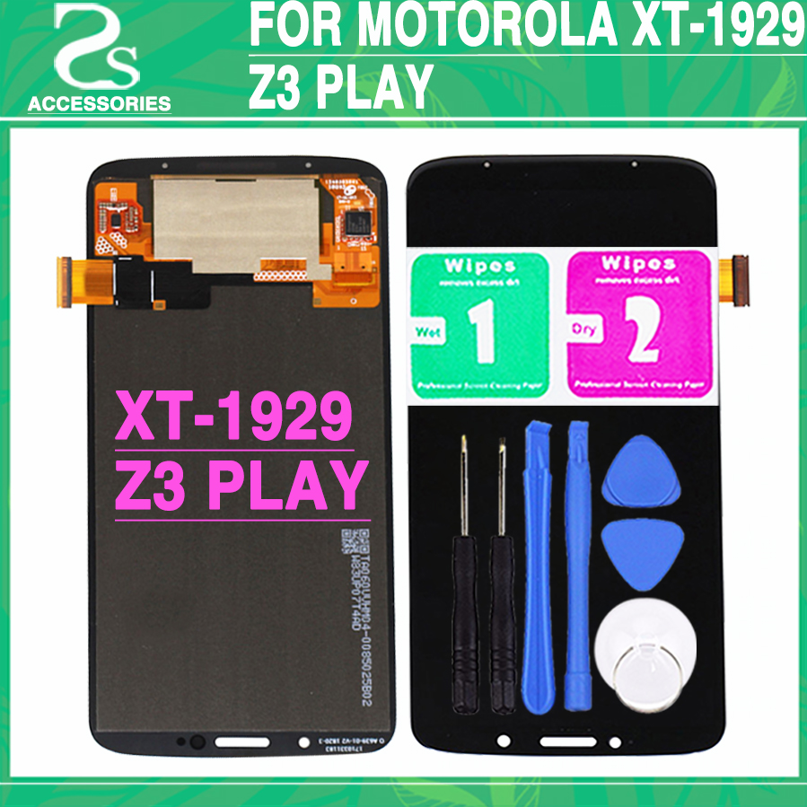 Tested For Motorola  Moto Z3 Play XT-1929 LCD Display Panel+ Touch Screen Digitizer Front Sensor Glass Assembly+ToolsTested For Motorola  Moto Z3 Play XT-1929 LCD Display Panel+ Touch Screen Digitizer Front Sensor Glass Assembly+Tools