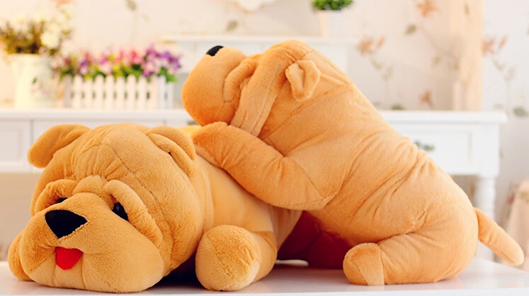 ФОТО Shar Pei  doll Large  pillow  plush toy  children's gifts 80cm
