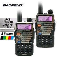2PCS Baofeng UV 5RE Long Rang 10 KM Walkie Talkie PTT Earpieces Portable Radio Amateur Baofeng UV 5R Plus Car Radio Station UV5R