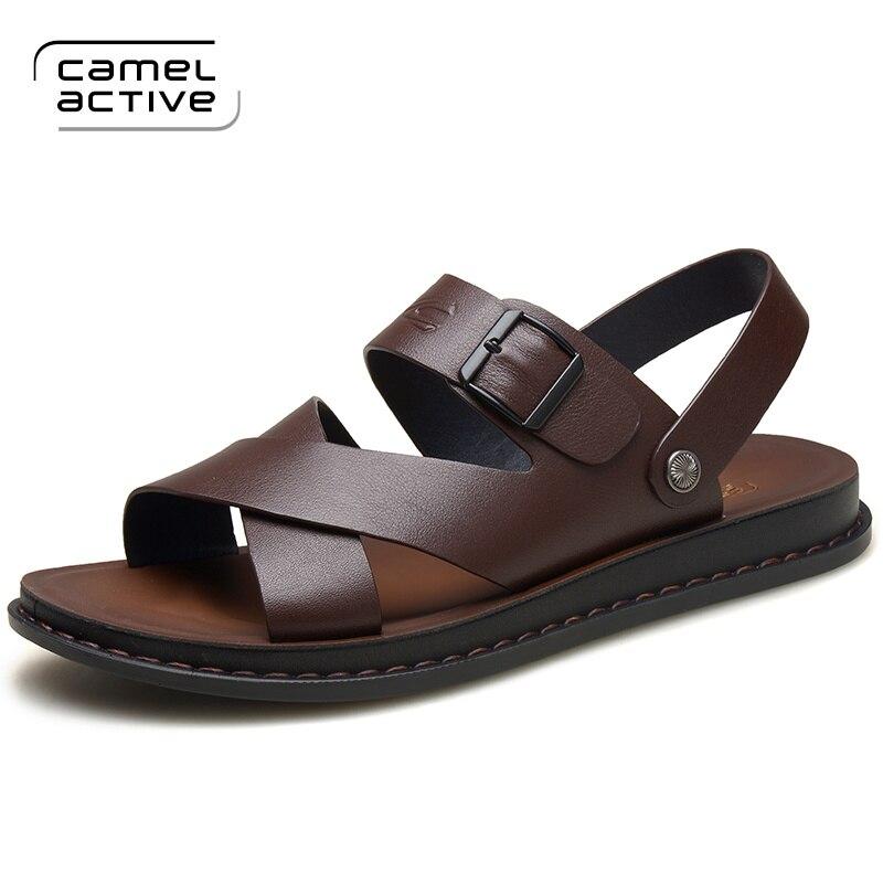 Chaussures De En Hommes Mode Confortable marron Plage 3730 Active Marque Sangle Loisirs Boucle Noir Cuir Camel Sandales Véritable RSqxWHwxUO