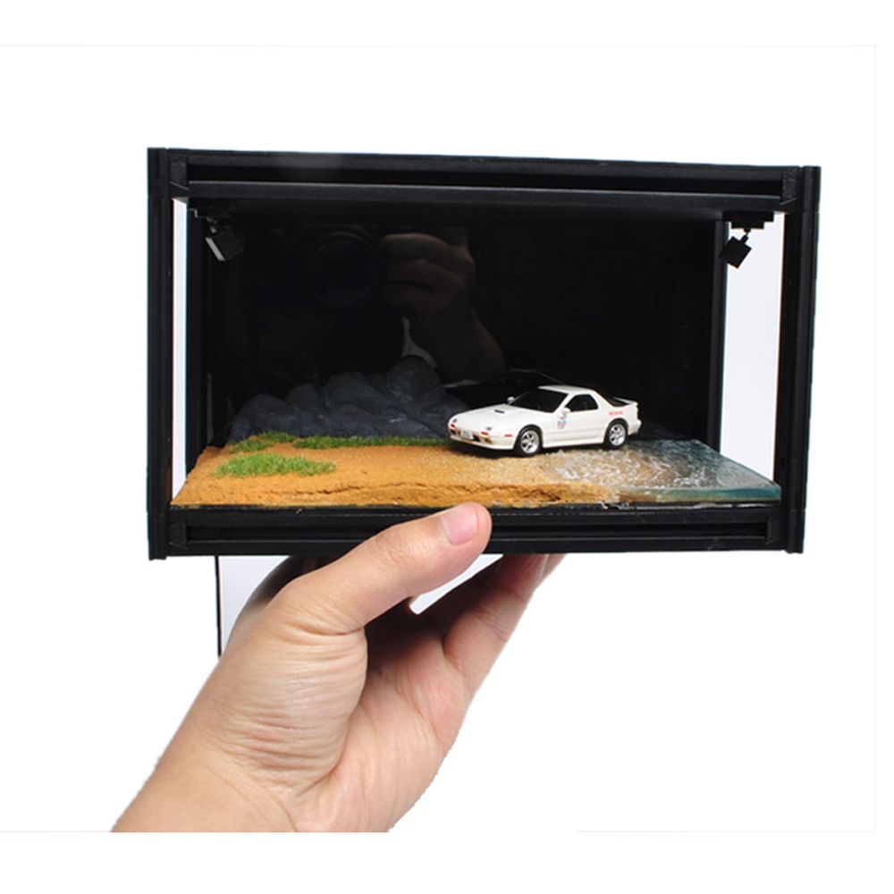 DIY Dust Cover For 1:64 Car Model Base Car Models Display Box Acrylic