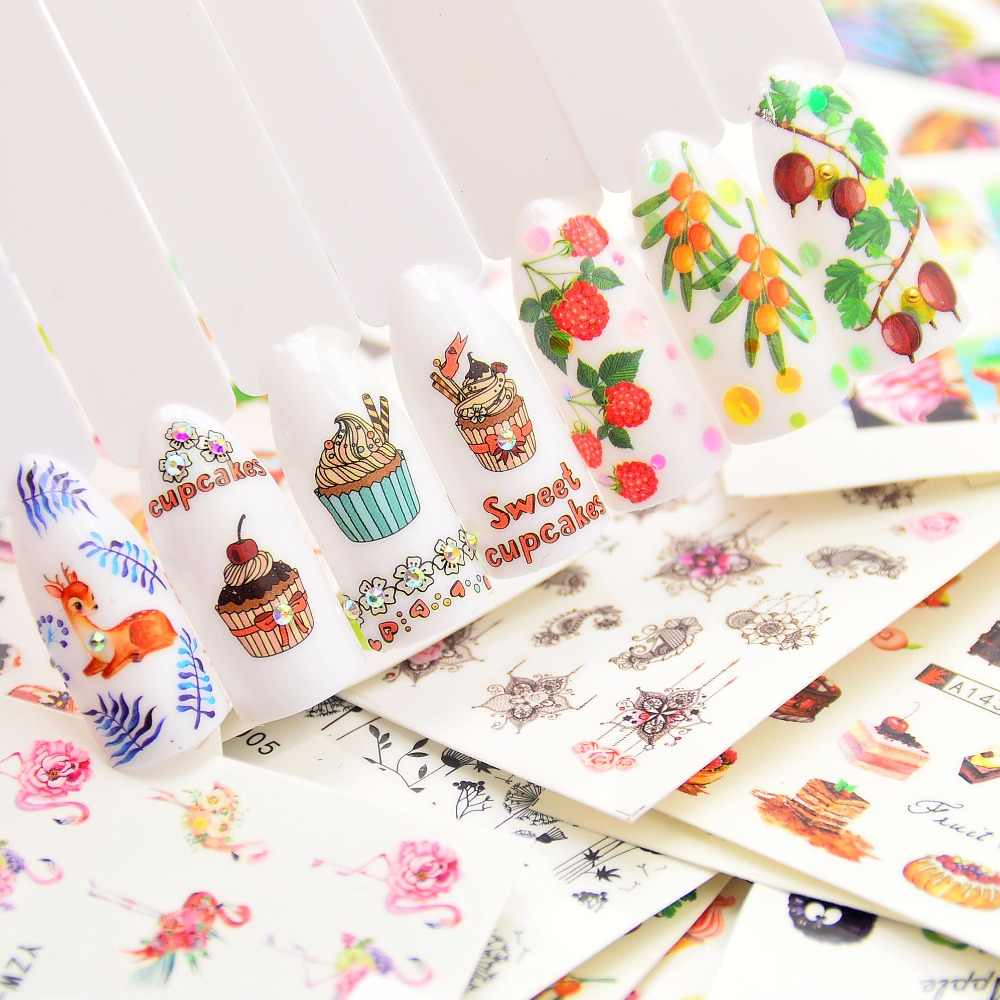 1 PC  Summer  Beauty Slider/Flower/Fruit Water Transfer Sticker Nail Art Decals DIY Fashion Wraps Tips Manicure Tools
