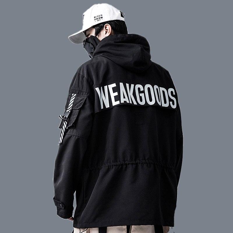 Autumn 2019 Men Harajuku Hip Hop Coats Male Jacket Oversize Hoodie 100%Cotton Fashion Swag Coat And Jacket US Size
