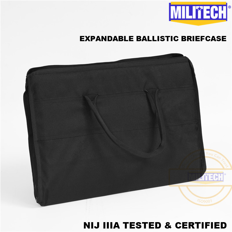 MILITECH 17.7 ''x 39.4'' ou 45 cm x 100 cm poids léger aramide NIJ IIIA 3A porte-documents balistique pare-balles