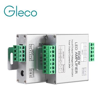 DC12-24V 24A RGB RGBW wzmacniacz kontroler LED wzmacniacz sygnału dla taśmy LED RGB RGBW RGBWW wzmacniacz mocy konsoli tanie i dobre opinie Kontroler rgb ROHS 288W 12V 576W 24V 12-24 v Aluminum Gleco RGB RGBW LED Strip Common Anode(+) LED Amplifier RGB RGBW signal Amplifier