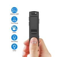 Boblov A3 Mini Camcorders Voice Recorder Police Pen Camara Body Worn Camera 32GB Snapshot Loop Recording Cam Motion Detection