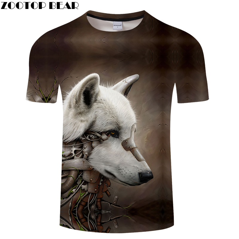 Wall Crack 3D tshirt Wolf t shirt Men Women t-shirt Streatwear Tee Funny Top Unisex Pullover Short Sleeve Drop Ship ZOOTOPBEAR