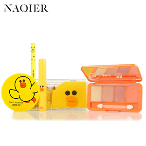NAQIER Fashion Cute Makup Tool Kit 4 Pcs Cosmetics Including Eyeshadow Lipstick with Cosmetics Makeup Set for Gift(China)